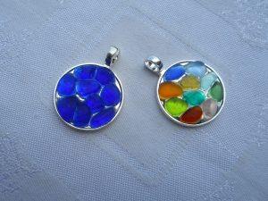 sea glass festival necklace pendant