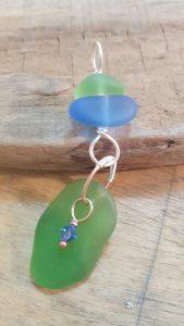 Beach sea glass pendant