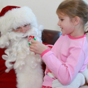 Saturday w Santa - girl