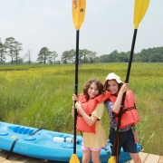 campers going kayaking
